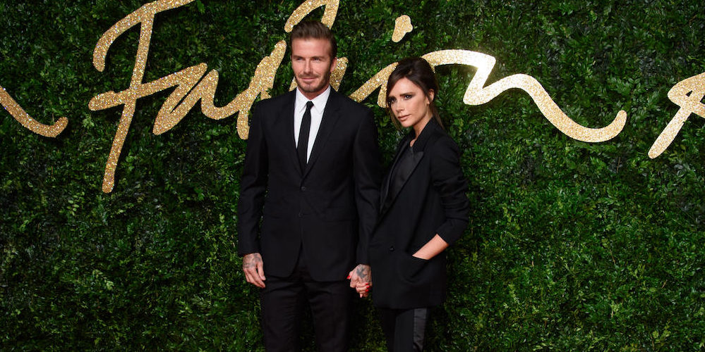 David Beckham and Victoria Beckham at the British Fashion Awards 2015 in London